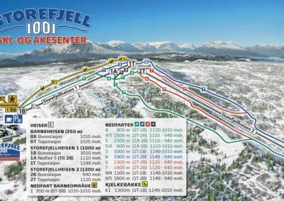 Storefjell Ski- og Akesenter kart